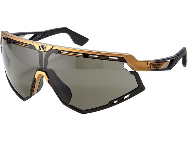 Rudy Project Defender Okulary rowerowe, bronze matte/fade black/black/smoke black